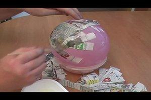 Heißluftballon basteln - so gelingt ein kleines Modell