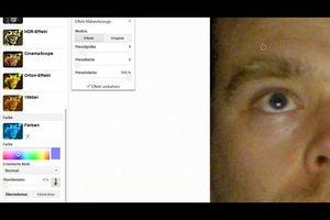 Augenfarbe ändern mit Picasa so geht's