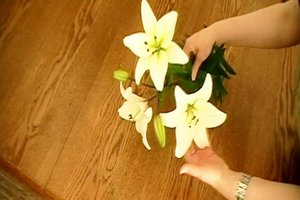 Blumen binden - Anleitung