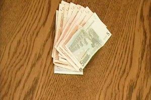 Geld verpacken - Anleitung für einen Blumenstrauß mit Geldscheinen
