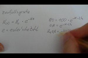 Formel für Halbwertszeit - so berechnen Sie diese richtig