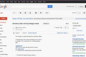 Undelivered Mail returned to Sender - mögliche Ursachen
