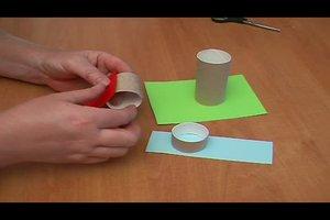 Basteln mit Klopapierrollen - Anleitung für eine Stiftebox