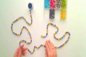 Ketten basteln mit Perlen - Anleitung für ein mehrreihiges Collier