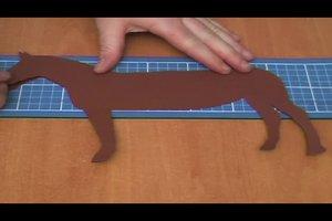 Laterne basteln mit Pferd-Motiv - Anleitung