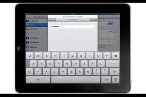 Wi-Fi-Verbindung mit dem iPad herstellen