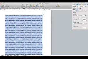 Zeilenabstand bei Pages ändern