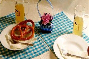 Bayerische Tischdeko - Ideen für den bayerischen Brotzeit-Tisch