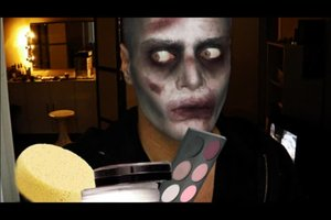 Schminken für Halloween - Anleitung für einen Zombie