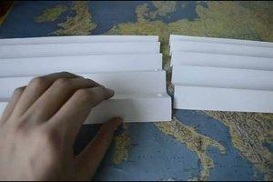 Wie man eine Papierbrücke baut