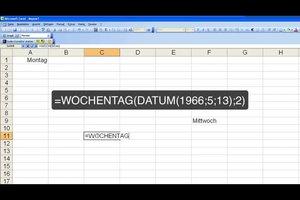 Mit Excel den Wochentag berechnen