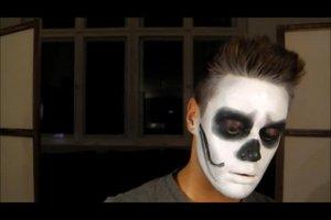 Skelett an Halloween - Schminktipps