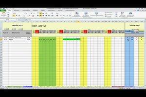 Urlaubsplan kostenlos in Excel erstellen
