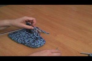 Hausschuhe selber stricken - Anleitung
