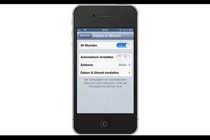 iPhone 4 - Zeit und Datum stellen Sie so ein
