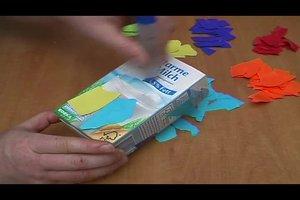 Basteln im Kindergarten - so geht's mit Milchkartons