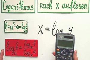 """Logarithmus auflösen nach """"x"""" - so geht's"""