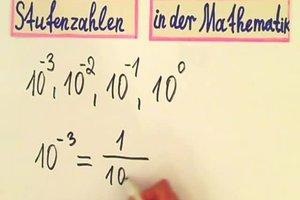 Stufenzahlen in der Mathematik - Zahlen im Stellenwertsystem darstellen
