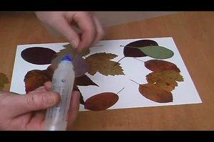 Herbstdekoration basteln aus Blättern - so gelingt's