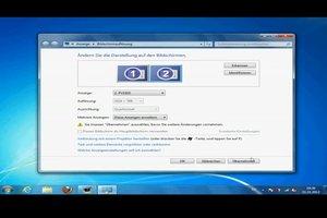 Mit Windows 7 zwei Bildschirme verwenden - so funktioniert's