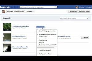 Facebook: Freundeslisten bearbeiten - so geht's