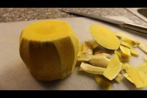 Butternut-Kürbis schälen - so machen Sie es richtig