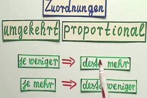 Umgekehrt proportional - so lösen Sie die Aufgaben