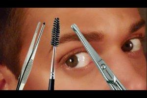 Augenbrauen zupfen - Anleitung für den Mann