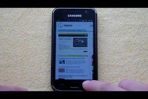 Samsung Galaxy S Plus - Screenshot machen