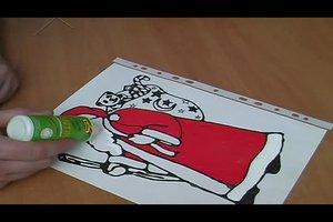 Einen Nikolaus basteln - so gelingt ein Fensterbild