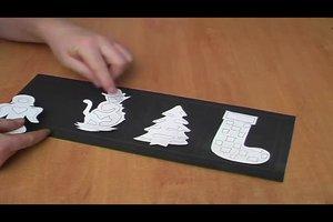 Basteln mit Transparentpapier - so leuchten Kerzen weihnachtlich