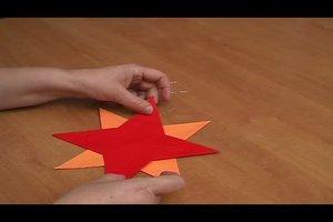 Falzen mit Papier- einfache Weihnachtssterne basteln