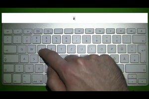 E mit Apostroph auf der Tastatur schreiben - Anleitung