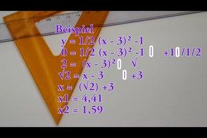 Scheitelpunktform in faktorisierte Form umformen - so klappt's bei einer Parabel