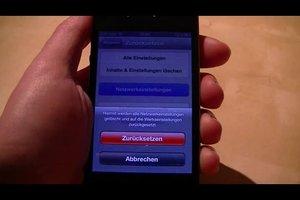 iPhone 4 auf Werkseinstellungen zurücksetzen - so geht's