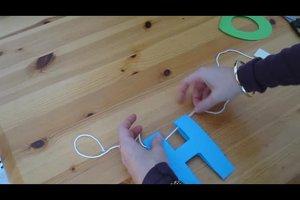 Buchstabenkette selber basteln - Anleitung