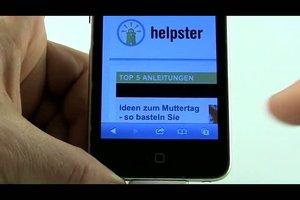 Wie geht man mit dem iPod Touch ins Internet?