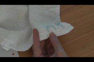 Namen sticken - Anleitung für personalisierte Handtücher