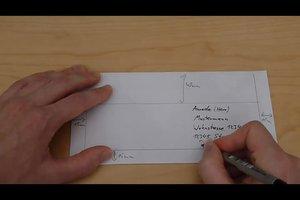 Briefumschlag beschriften - so geht's richtig