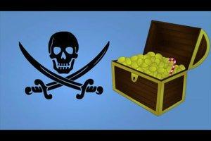 Piraten-Schatzkarte für Kindergeburtstag selber machen