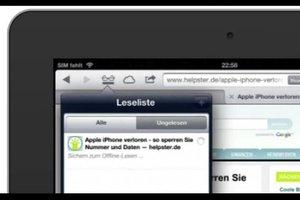 Leseliste beim iPad bearbeiten - so geht's