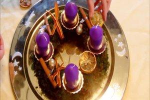 Adventskranz mit Moos selber machen - Anleitung