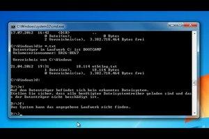 Unter DOS die Festplatten auflisten – Anleitung für Inhaltsauflistung