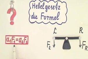 Hebelgesetz - die Formel einfach erklärt und angewendet
