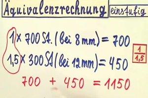 Äquivalenzrechnung - eine Anleitung