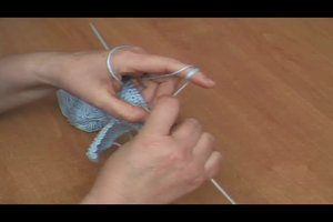 Anleitung - Babyschuhe stricken im Perlmuster