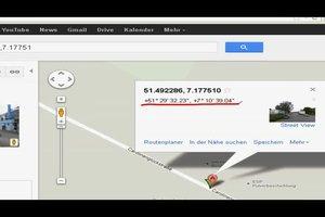 Bei Google Maps die Koordinaten anzeigen lassen - so geht's