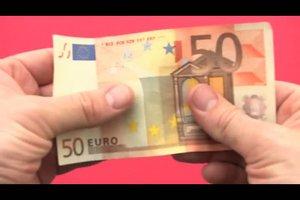 Geldscheine prüfen - so erkennen Sie Falschgeld