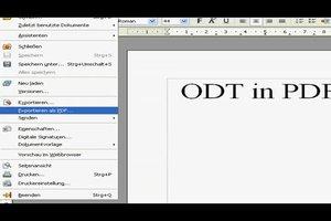 ODT in PDF-Format umwandeln - so geht's