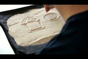 Mit Sand malen - Anleitung